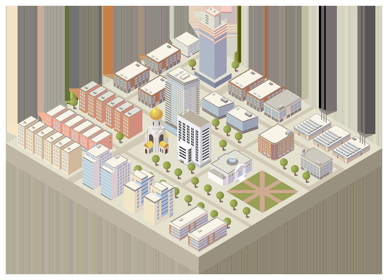 Изображение города для мобильного
